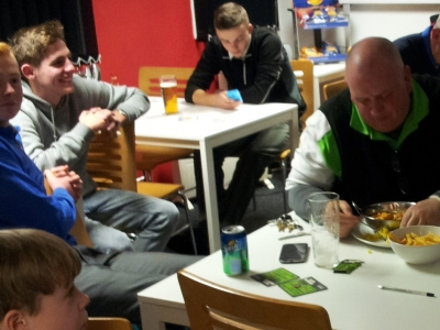 after match grub and beer 4 to 3
