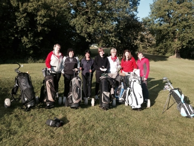 ladies playing on course 2